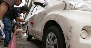 Mobil Hermansyah terparkir di RS Hermina (Foto: Apriyadi/Okezone)