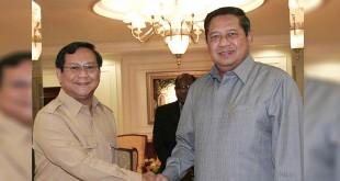 Prabowo Subianto dan Susilo Bambang Yudhoyono (Istimewa)