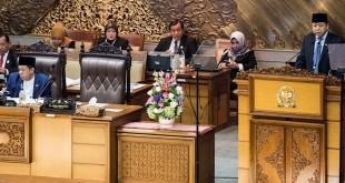 Ketua DPR RI Setya Novanto di rapat paripurna HUT ke 72 DPR (Antara)