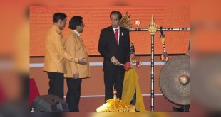 Jokowi saat buka Rapimnas I Hanura (Foto: Ant)