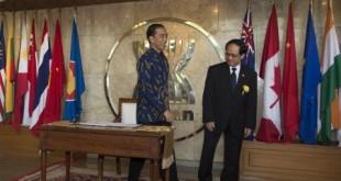 Presiden Jokowi di HUT-50 ASEAN. (Foto: Antara)