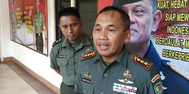 Danrem Suryakancana Kolonel Inf Mirza Agus (Putra/Okezone)