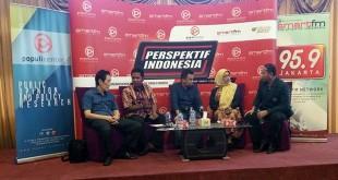 Komisioner KPAI Retno Listyarti (kedua dari kanan) saat diskusi di kawasan Menteng, Jakarta Pusat, Sabtu (16/9/2017). (Foto: Reni Lestari/Okezone)