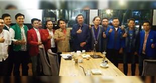Aktivis Cipayung Plus silaturahmi dengan Erry Nuradi akhir tahun lalu. (Ist)