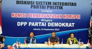 Diskusi pimpinan KPK dan Demokrat (foto: Fadel/Okezone)