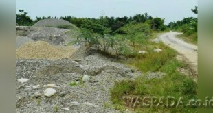Rencana lokasi eksploitasi pasir oleh PT Qtone di Desa Lama Barat, Kecamatan Wampu Kabupaten Langkat