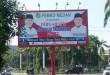Salah contoh satu papan reklame berdiri tegak di inti Kota Medan