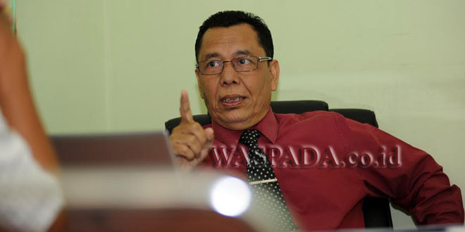 Ketua Sekolah Tinggi Ilmu Komunikasi 'Pembangunan' (STIK-P) Medan, Dr H Sakhyan Asmara MSP. (WOL Photo/Ega Ibra)