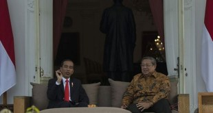 Pertemuan Jokowi-SBY di Istana (foto: Okezone)