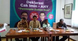 Relawan Pro-I saat deklarasikan Cak Imin-AHY (Foto: Achmad Fardiansyah/Okezone)