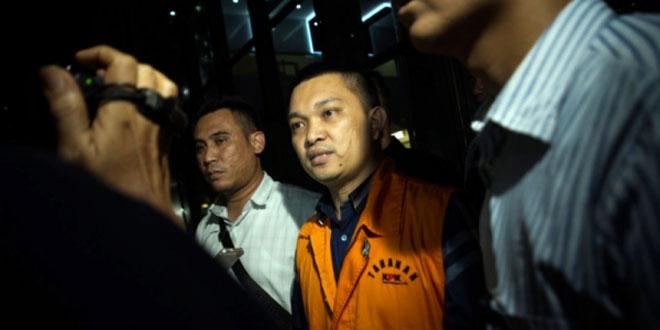 Anggota Komisi XI DPR Aditya Moha saat di KPK (Foto: Antara)