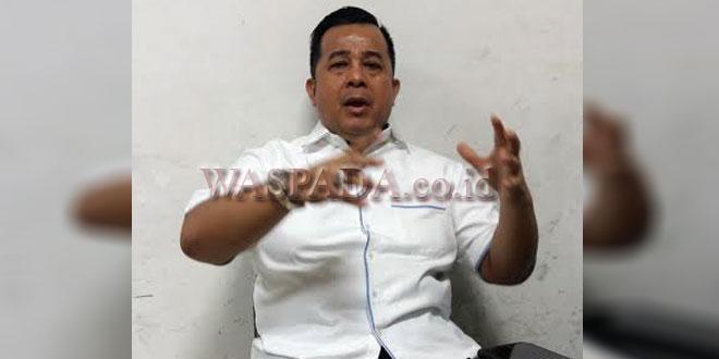 Ketua Fraksi Partai Demokrat DPRD Medan, Herri Zulkarnain Hutajulu.(WOL Photo/Muhammad rizki)