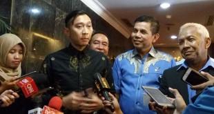 Edhy Baskoro Yudhoyono saat beri keterangan ke awak media (Foto: Bayu Septianto/Okezone)