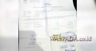 Kwitansi pembayaran pasang baru milik E br Pasaribu. (WOL Photo)