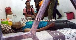Kapolsek Medan Sunggal, Kompol Daniel Marunduri SIK SH MH, akui mayat Yoga sudah diautopsi. (WOL Photo/Gacok)