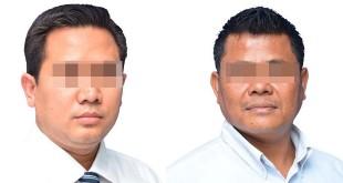 Dua pelaku pekerja TKK BRI terlibat kasus penggelapan uang Rp6 miliar dan mobil. (WOL Photo/Gacok)