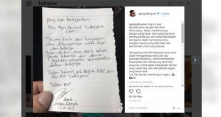 Unggahan instagram Agus Yudhoyono