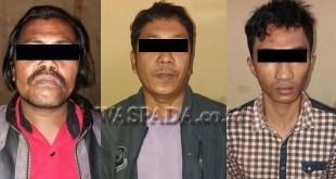 Tiga pelaku sindikat pencurian kendaraan bermotor (curanmor).