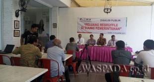Diskusi Peluang Reshuffle di Ujung Pemerintahan (Foto: M Iqbal)