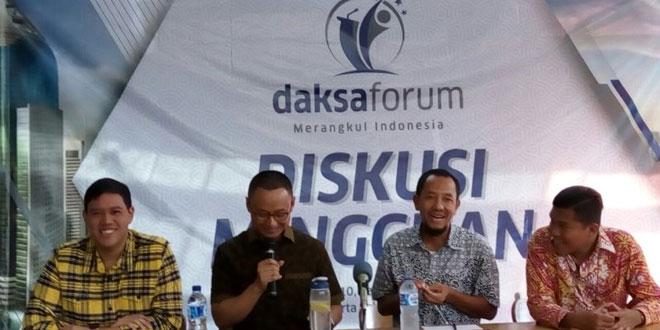 Wasekjen DPP Golkar Dave Laksono (paling kiri). Foto Okezone/Fakhrizal Fakhri