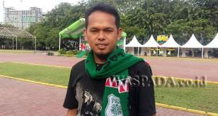 Pecinta PSMS Medan, Nata Simangunsong (WOLPhoto/M Rizki)