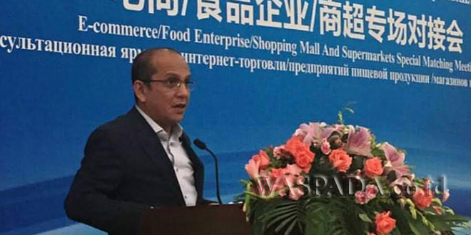 Ketua Kadin Sumut Ivan Iskandar Batubara saat menyampaikan pandangan perekonomian nasional dipertemuan internasional baru-baru ini. (WOL Photo/Ist)