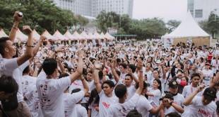 Acara Hero Is Us 'Charity Fun Run 2017' diselenggarakan Universitas Prima Indonesia (UNPRI) Creative bekerjasama dengan Yayasan Cinta Kasih Mandiri. (ist)