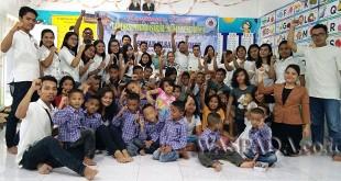Generasi Muda Pasaribu Medan Sekitarnya menyerahkan bantua sembako di Panti Asuhan Elsadai Sumut.