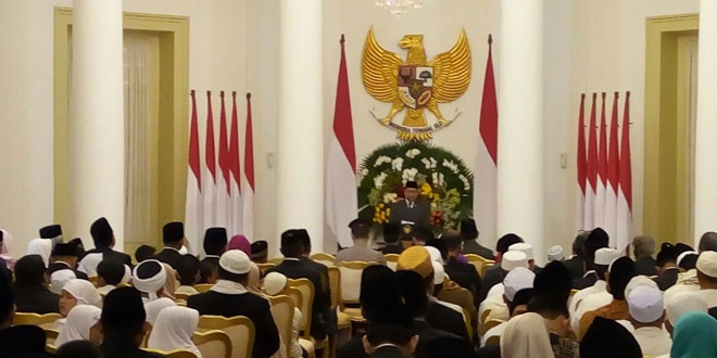 Perayaan Maulid Nabi di Istana Bogor (Fakhri/Okezone)