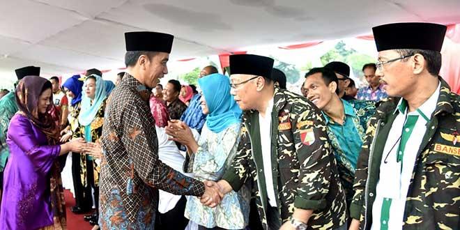 Presiden Jokowi saat menghadiri apel kebangsaan di Candi Prambanan, Sleman, DIY. (Foto: Rustam/Biro Pers Setpres)
