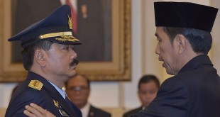 Presiden Jokowiresmi memilih KSAU Marsekal Hadi Tjahjanto sebagai calon tunggal Panglima TNI