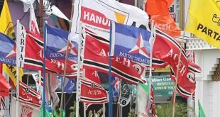 Ilustrasi bendera partai politik. (Foto: Ist)