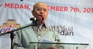 Wali Kota Medan. Dzulmi Eldin, ketika menghadiri acara Welcome Dinner Medan Fam Trip 2017 di Hotel Grand Mercure Jalan Perintis Kemerdekaan Medan. (WOL Photo)