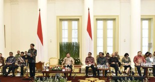 Presiden Joko Widodo saat mempimpin rapat paripurna di Istana Bogor (Foto: Antara)
