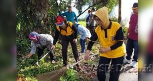 Muspika Kecamatan Medan Selayang bakti sosial.(WOL Photo/Gacok)