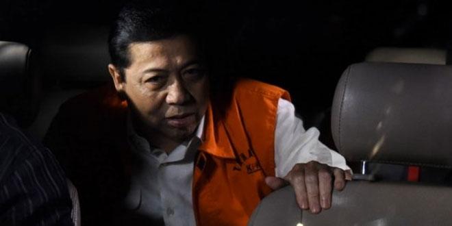 Tersangka korupsi e-KTP, Setya Novanto (foto: Antara)
