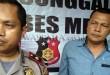 Kapolsek Medan Sunggal, Kompol Wira Prayatna SH SIK MH, didampingi Kanit Reskrim Iptu Budiman Simanjuntak SE SH, memberikan keterangan kepada Waspada Online.(foto: Gacok)