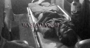MR X tewas diduga korban tabrak lari.(WOL. Photo/Gacok)