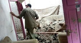 Salah saru rumah warga rusak akibat gempa Lebak. Foto dok BNPB