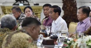 Presiden Jokowi saat memimpin ratas soal pembangunan UIII (Foto: Antara)