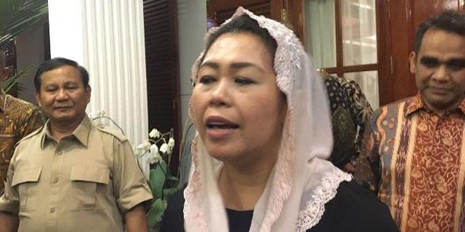 Yenny Wahid saat bertemu dengan Ketum Gerindra Prabowo Subianto (Foto: Bayu Septianto)
