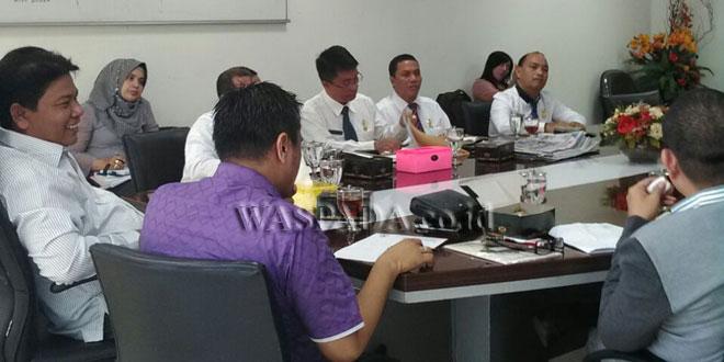 Rapat Dengar Pendapat Komisi C DPRD Medan dengan PD Pasar Kota Medan. (WOL Photo/M Rizky)