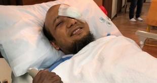 Penyidik senior KPK Novel Baswedan usai jalani operasi tambahan di mata kirinya. (Foto: Ist)