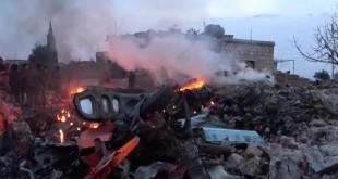 Pesawat Sukhoi 25 milik militer Rusia ditembak jatuh di Provinsi Idblib oleh pemberontak Suriah menggunakan rudal antipesawat terbang portabel MANPAD -- Reuters.