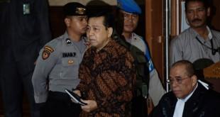 Terdakwa kasus korupsi e-KTP, Setya Novanto (foto: Antara)