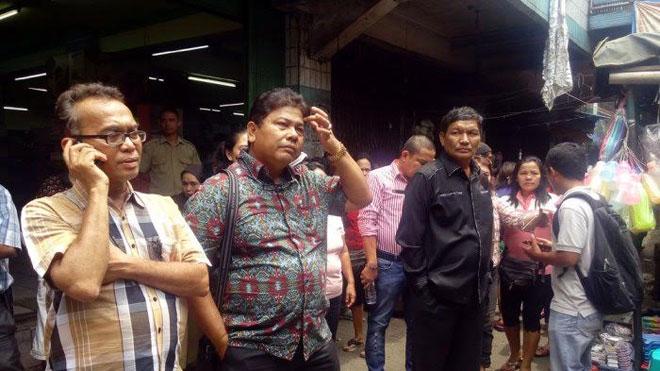 Anggota Komisi C meninjau pasar-pasar tradisional di Medan. (foto: Ist)