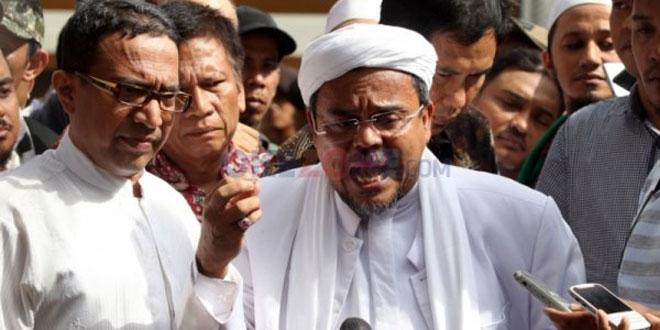 Imam Besar FPI Habib Rizieq. (Foto dok Okezone)