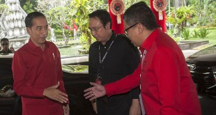 Presiden Jokowi hadiri Rakernas III PDIP di Bali. (Foto: Antara)
