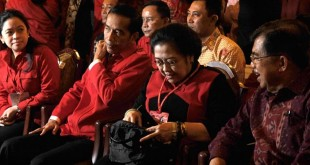 Puan Maharani, Joko Widodo dan Megawati Soekarnoputri.( Foto Antara)