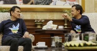 Menpan RB Asman Abnur saat berkunjung ke Kantor Wali Kota Bogor (Foto: Putra/Okezone)